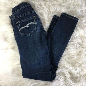Justice Premium Jeans Skinny Dark Wash 12S